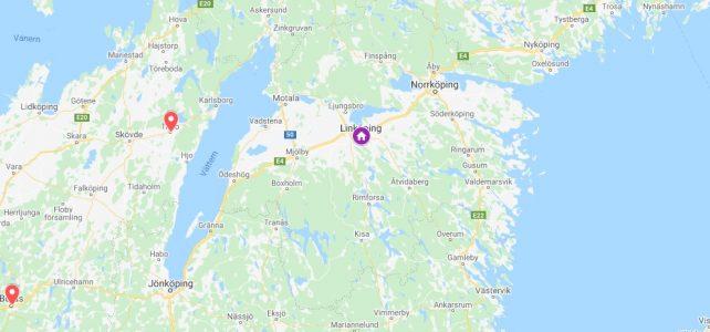 2 timmar från Linköping